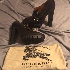 Oxblood color Burberry shoe.